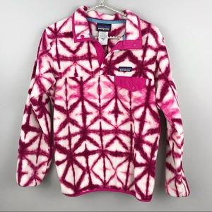 Patagonia • Pink Tie Dye Fleece